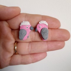 Galah earrings - large studs