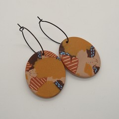 """""""Sur une route noire du desert"""" Collection Statement Earrings"""