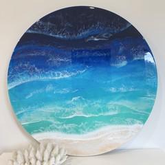 Crystal Waters Resin Ocean Artwork 60cm Diameter