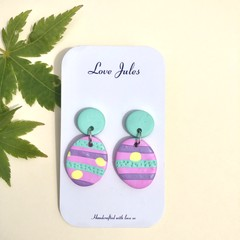 Candy stripe dangles (oval)
