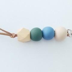 Polymer Clay Bead Keyring/Handbag Charm