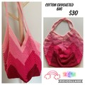 Crocheted Pink Cotton Bag