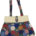 Fabric Handmade Cotton Quilted Pattern Design Farm Animals Tote Bag Fully Lined