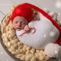 Newborn beanie with pompom