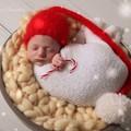 Newborn beanie with pompom