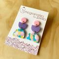 Suna Earrings in Rainbow with Gold Specks