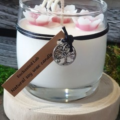 Cherry Blossom Flower Soy Candle / Gift / Home Décor