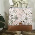 Girls Crossbody Bag - Flannel Flower Babies on Pale Pink