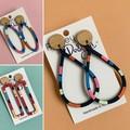 Colourful Summer Stripe Statement Earrings