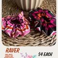 Raver Fabric Scrunchie