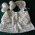 HAND KNITTED BABY MATINEE JACKET