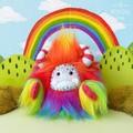 "Rainbow yeti, artist bear, monster plush ""Lorrie"""