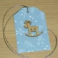 Christmas gift tags - Set of 5 - reindeer