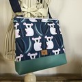 Girls Crossbody Bag - Koalas on Navy