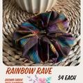 Rainbow Rave Fabric Scrunchie