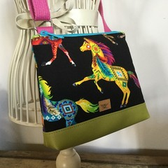 Girls Crossbody Bag - Bright Horses