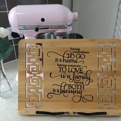 Recipe or ipad holder