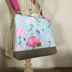 Girls Crossbody Bag - Flamingoes