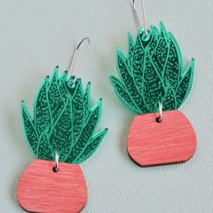 Statement Succulent Earrings