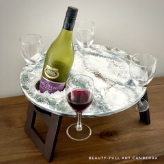 Resin Art Picnic Wine Table