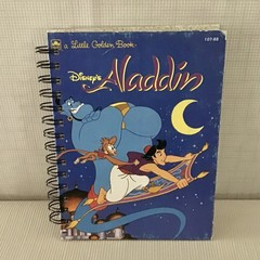 2021 Little Golden Book Upcycled Diary  - Aladdin