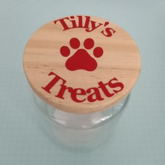 Personalised dog or cat treat Jar.
