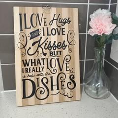 Kitchen decorative board.