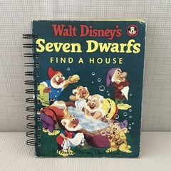 2021 Little Golden Book Upcycled Diary  -  Seven Dwarfs Find A House