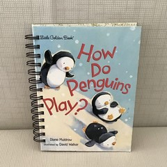Little Golden Book Upcycled Notebook - How Do Penguins Play?