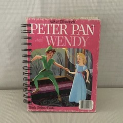 Little Golden Book Upcycled - Peter Pan and Wendy