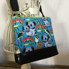 Girls Crossbody Bag - Koalas on Blue