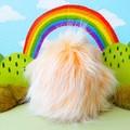 """Yeti artist bear, monster plush, peach and pink yeti  """"Poggles"""""""