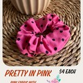 Pretty In Pink Fabric Scrunchie