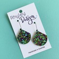 Peacock Glitter Earrings