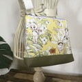 Girls Crossbody Bag - Flannel Flower Babies on Lemon
