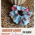 Garden Lover Fabric Scrunchie