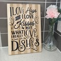 Kitchen decorative board.