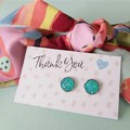 Gift set - Earrings and hair tie