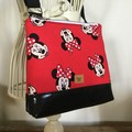 Girls Crossbody Bag - Minnie on Red