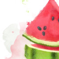 'Watermelon Sugar' Watercolour Digital Painting, Instant Download