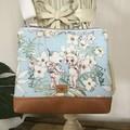Girls Crossbody Bag - Flannel Flower Babies on Pale Blue