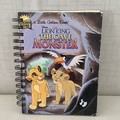 Little Golden Book Upcycled Notebook -  Lion King - The Cave Monster