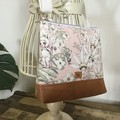 Girls Crossbody Bag - Flannel Flower Babies on Pale Pink