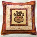 Batik cushion cover - I Love My Pug