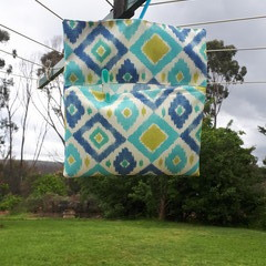 PEG BAG WITH HANGER - OUTDOOR FABRIC