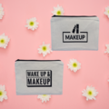 Fabulous Handmade Makeup Cosmetic Toiletry Pouch Printed Iron On Vinyl