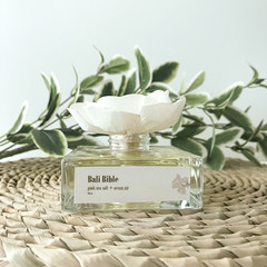 Bali Bible Reed Diffuser - Personalised self care gift box with pink sea salt