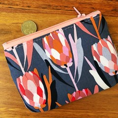 Coin purse - Pink Protea