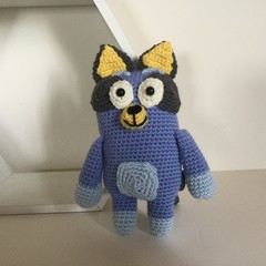 Blue Dog  -  crocheted, knitted, softies