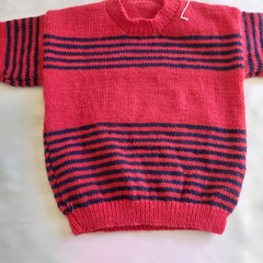 HAND KNIT BOYS SWEATER 3 - 4 YEARS